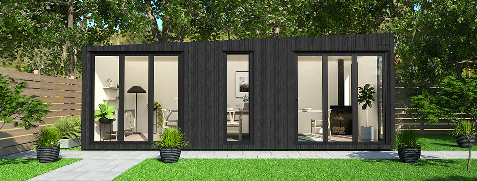 Insulated Garden Room with Floor-to-CeilingWindows | 7m x 3m
