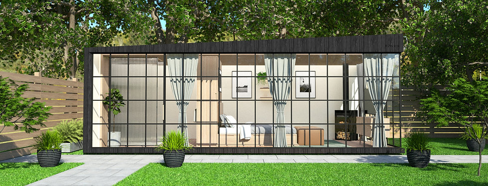 Insulated Garden Room with Crittall-style Windows | 7m x 3m