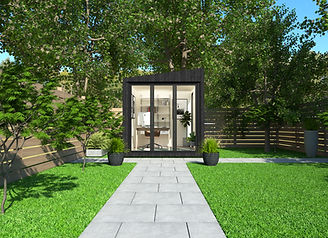 small insulated garden room with electri