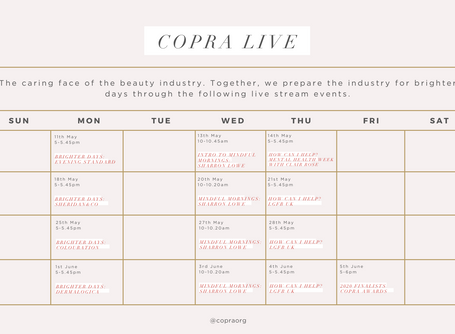 Copra Live! The Instagram Live Stream Schedule for May