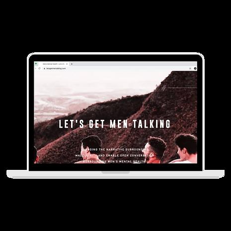 lets get men talking wix website design