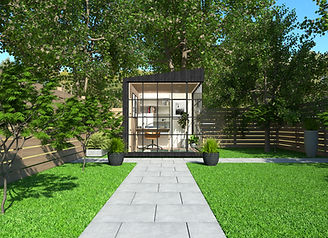 solar powered insulated garden room work