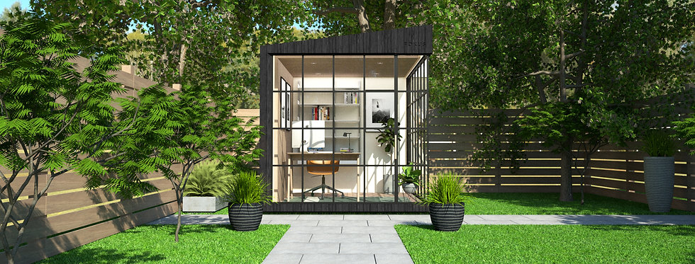 Insulated Garden Room with Crittall-style Windows   2.4m x 3m