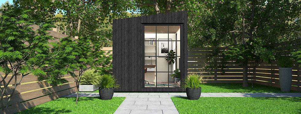 Insulated Garden Room with Privacy and Crittall-Style Windows | 2.4m x 3m