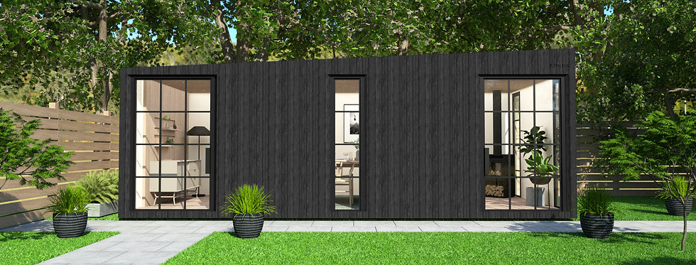 Insulated Garden Room with Crittall-style Privacy Windows | 7m x 3m
