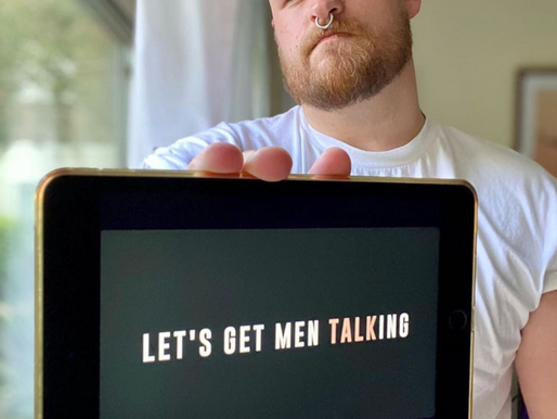 """""""Please, talk to the men in your lives, let them know it's okay to talk."""" James Makings"""