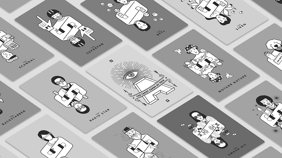Grayscale Tarot Cards of Tech.png