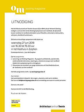 Uitnodiging Oosting Magazine 27 juni18 v