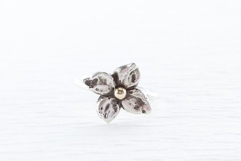 Silver FLORET stackable ring
