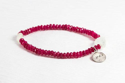 Jade/Aqua burly TOKEN bracelet