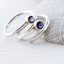 Handcrafted rustic delicate silver rings. Marcela Colina jewelry