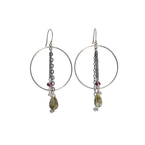 Silver  BUBBLE duster earrings
