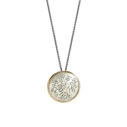MOMENTOS mandala gold necklace