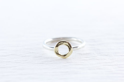 Silver & gold Lil' SPHERITA stackable ring