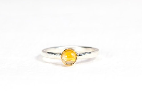 Cabochon gemstone SOLO stacking ring