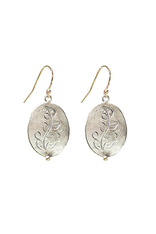 Mini MOMENTOS oval dangly earrings