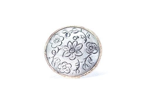 Silver MOMENTOS mandala ring