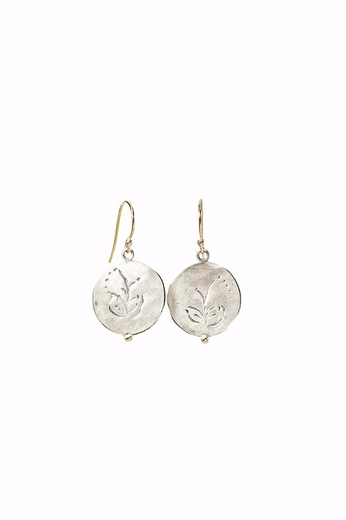 Mini MOMENTOS disc dangly earrings