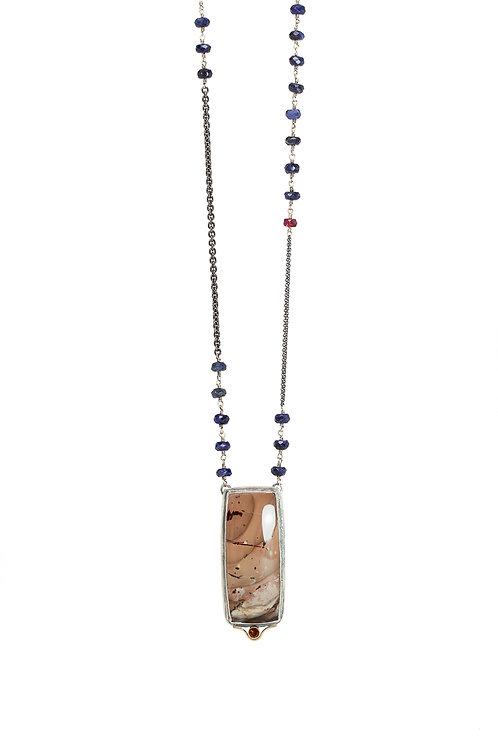 Layering & long DESERT pendant necklace