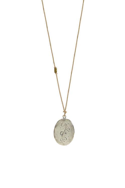 Seta mini MOMENTOS minimal necklace oval