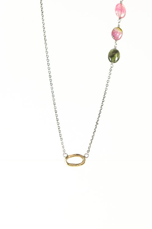 OOID lil' oval gem necklace