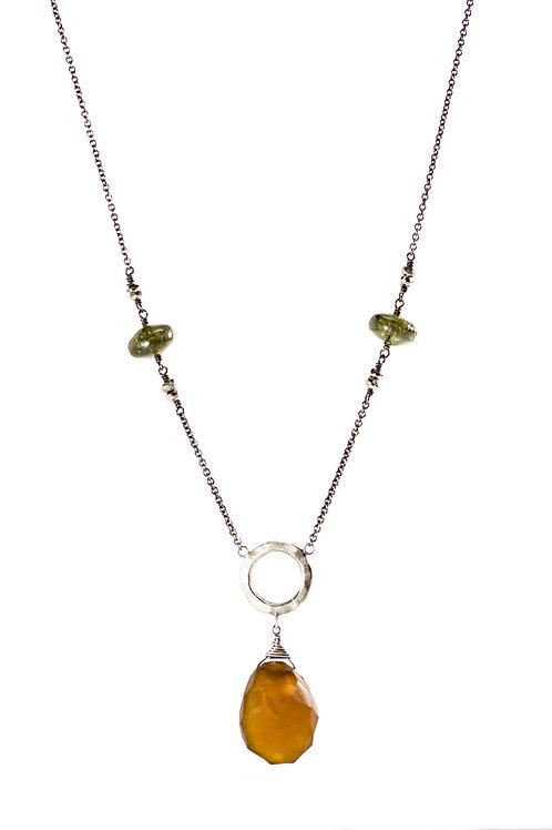 African jade SHPERITA layering necklace