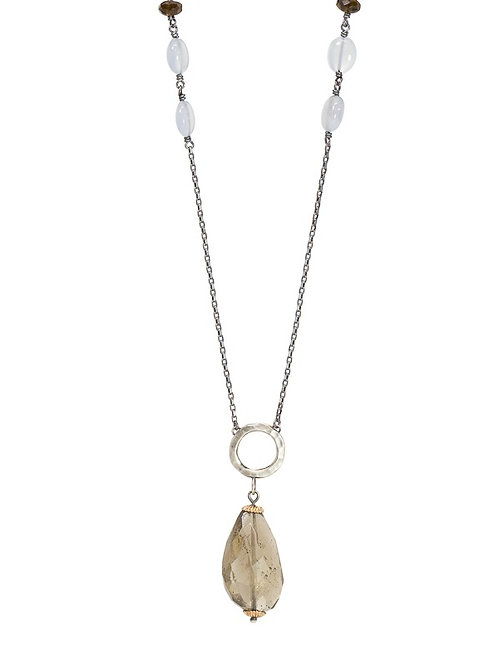 Smokey quartz SPHERITA layering necklace