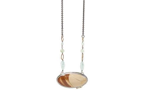Long statement SAND pendant necklace