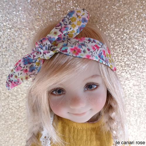 Headband Betty imprimé Liberty et rose pailleté