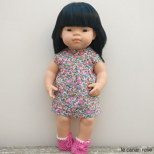 Robe Colette & co pour poupées Miniland et Gordi