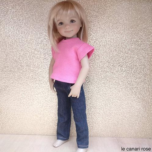 Pantalon jeans saumoné poupée Little Darling LasAmigas Fashion Friends Yella