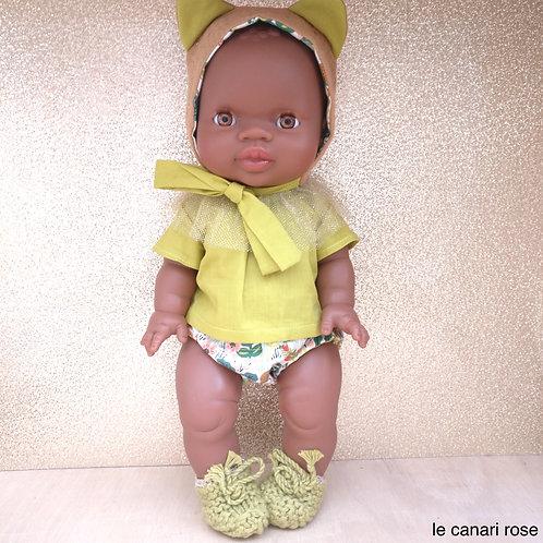 Poupée Gordi fille habillée en tenue de petite panthère