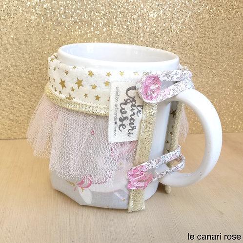 Manchon doudoune à mug licornes magiques