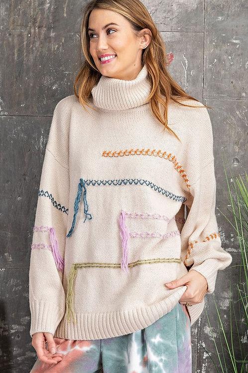 Fun Threaded Sweater