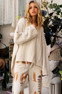 Macadamia Cable knit Sweater