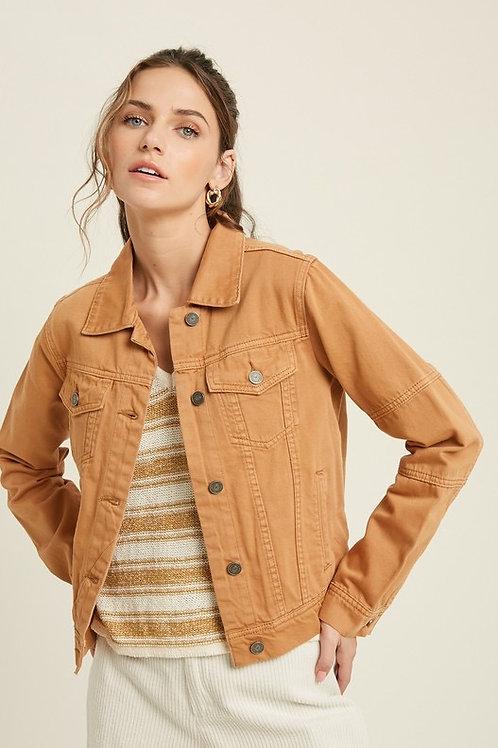 Camel Denim Jacket