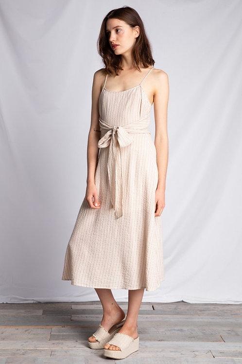 Tie Waist Stripe Dress