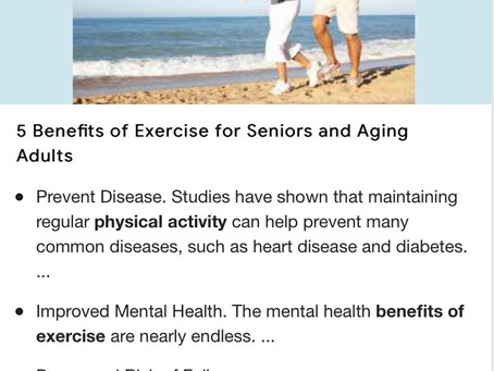 Benefits of exercise as we get older