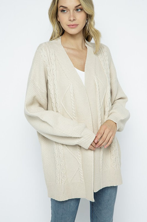 Comfy Cable Knit Cardigan