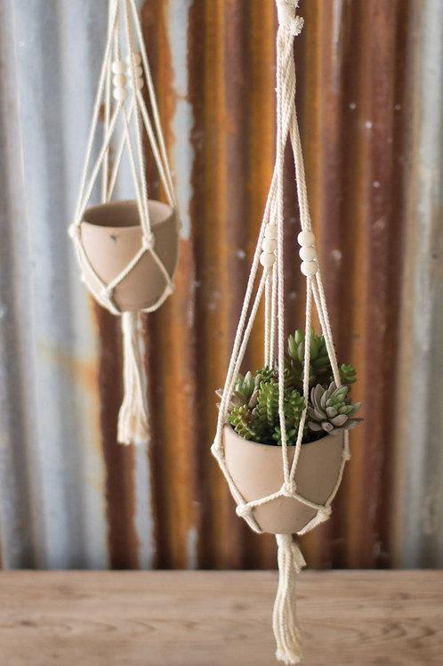 Macrame Hanging Clay Pot