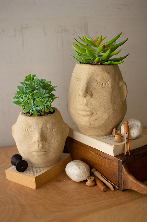 Ceramic Face Planter