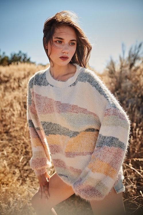 Multi Color Off Stripe Sweater