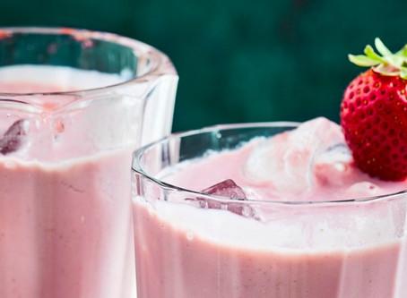 Strawberry and banana smoothie - Vegan