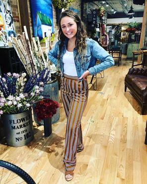 Fun striped pants; perfect for fall!