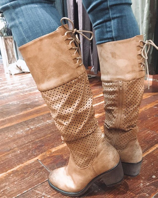 Fun perforated boots
