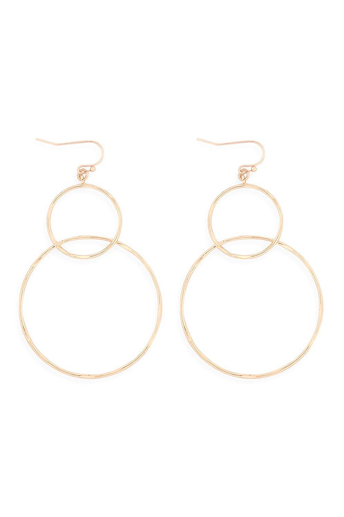 Double Circle Earring's
