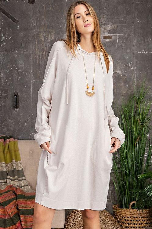 Hoodie Jersey Midi Dress