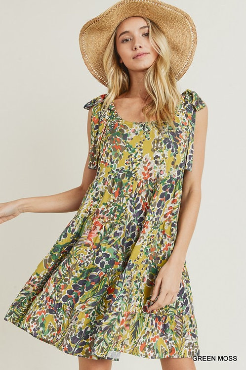 Water Color Tiered Dress