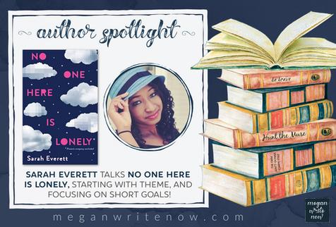 Author Spotlight: Sarah Everett talks No One Here is Lonely