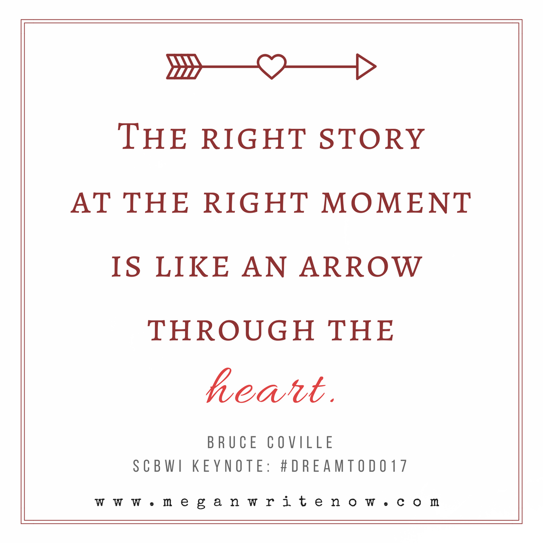 The right storyat the right momentis like an arrow through the